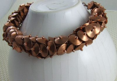 Jewelry Inspired: Funky Copper Disc Choker