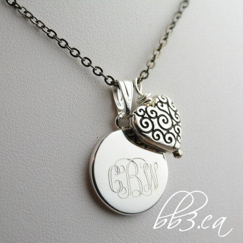 Sweetheart Keepsake Necklace Engraved with monogram