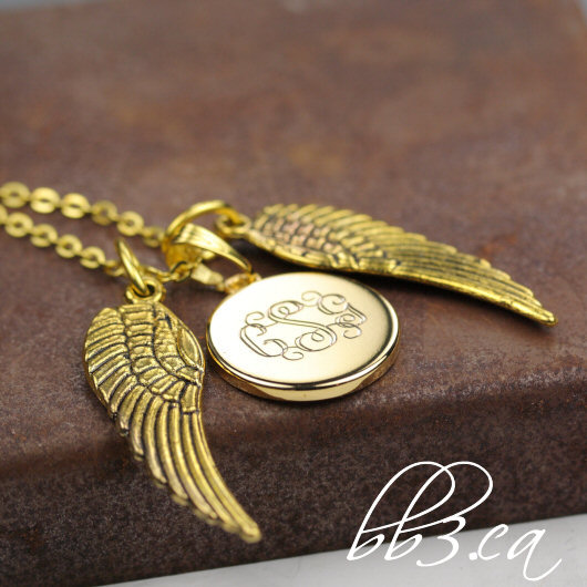 """Wings"" remembrance keepsake necklace now available in gold"