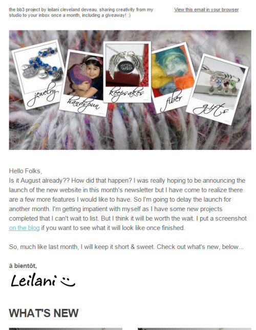 bb3 August 2015 newsletter
