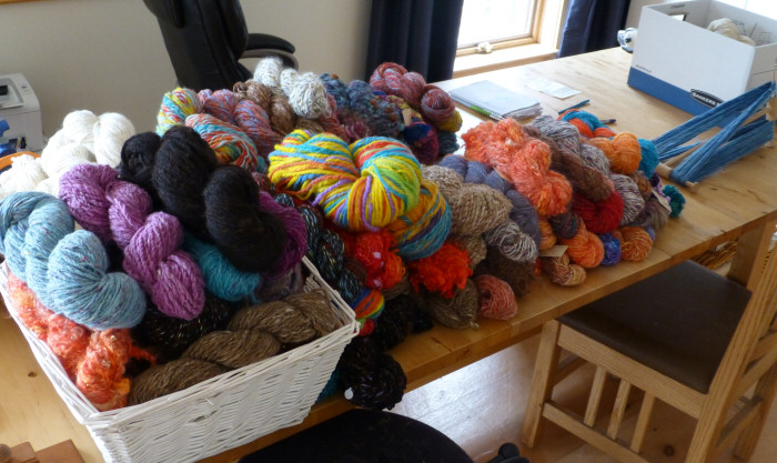 Current Yarn Stash – handspinning overflow