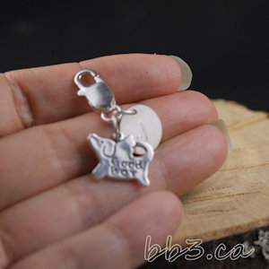 Dog Angel memorial pet jewelry choose a sterling silver necklace or clasp