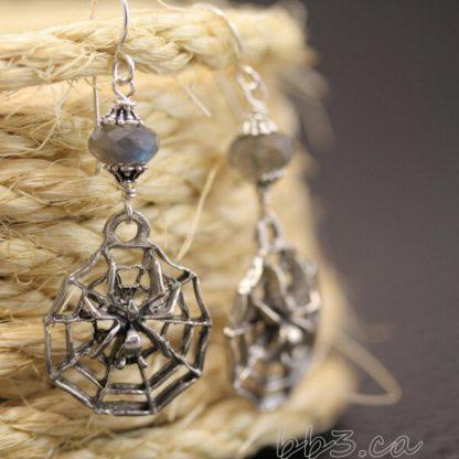 Spider Labradorite Earrings
