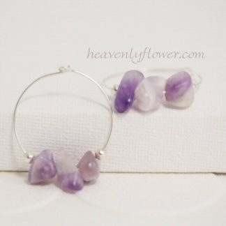**SOLD OUT**Sterling Silver Amethyst Hoops