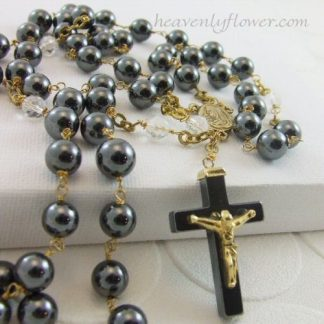 **SOLD OUT**Large Hematite Rosary