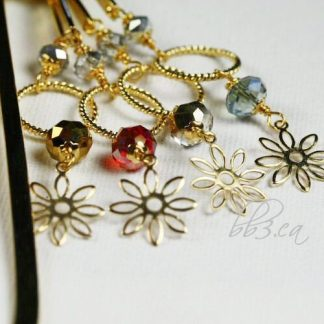 **SOLD OUT**Beaded Bookmarks Gold - Set of 4