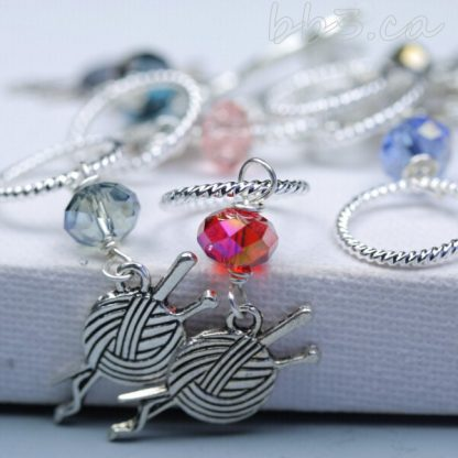 Stitch Markers Knitting Bling: Set of 8