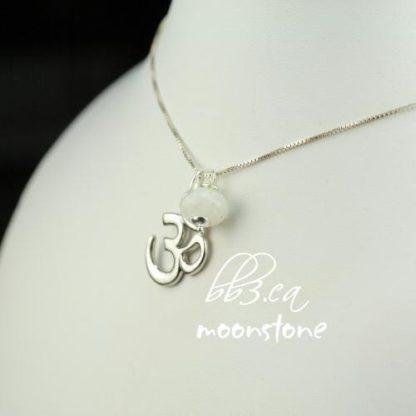OM Pendant & Faceted Gemstone Necklace