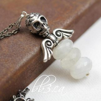 Dark Angel Necklace: Moonstone