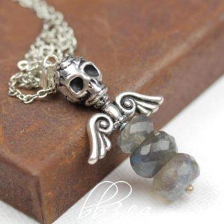 Dark Angel Necklace Labradorite