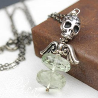 Dark Angel Green Amethyst Necklace