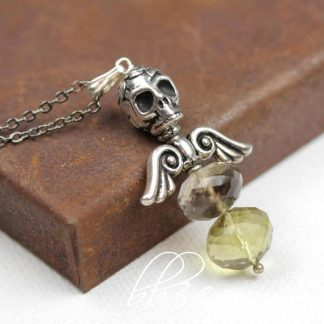 Dark Angel Necklace: Lemon Quartz