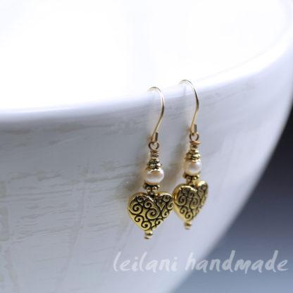 sweetheart earrings customize color