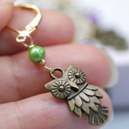 Stitch Markers: Slip On or Clip On - Owl