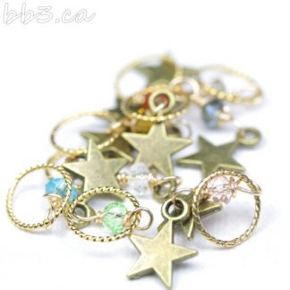 Stitch Markers Knitting Bling: Stars Size Small
