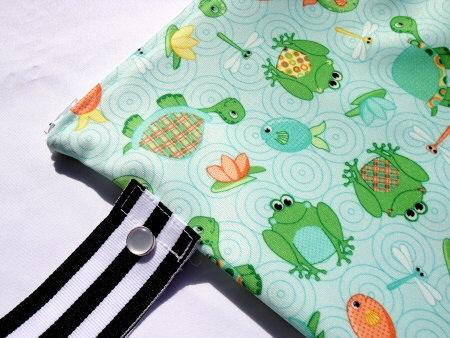 waterproof zippered wet bag by Nana Browns
