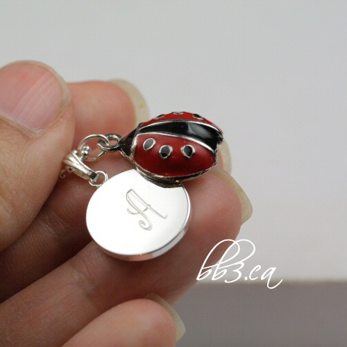 Personalized Lady Bug Necklace Silver - bb3.ca