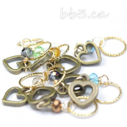 Heart on your sleeve stitch markers set of 8