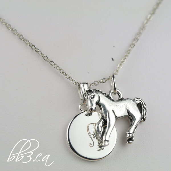 horse necklace silver only