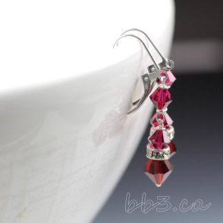 BRIDGET Earrings - Swarovski Crystal Dangles Choose Color