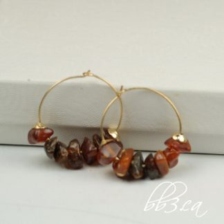 Gold Filled Amber Chip Hoops