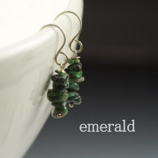 Emerald Gemstone Chip earrings