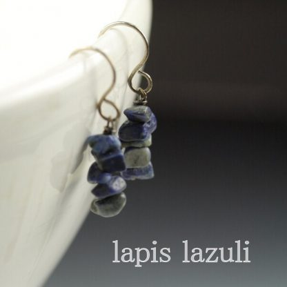Lapis Lazuli Chip Earrings