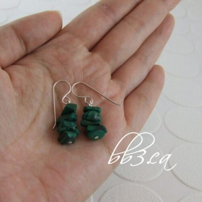 Malachite Chip Earrings