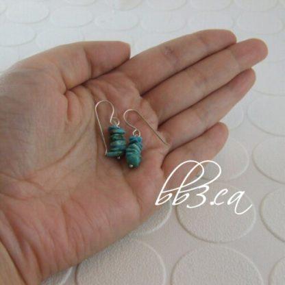 Turquoise stone mini nugget Earrings