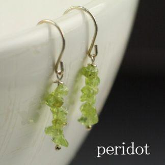 Sweet Peridot Chip Earrings