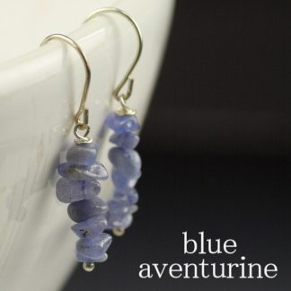 Blue Aventurine Chip Earrings