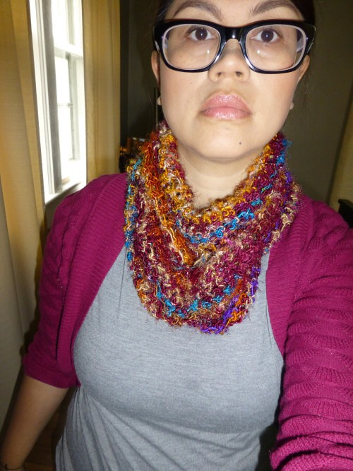 cowl-style not fanned out