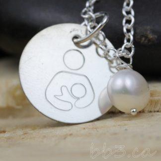 International Breastfeeding Symbol Necklace - Sterling Silver