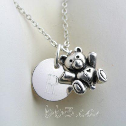 Sterling Silver Teddy Bear Keepsake Necklace