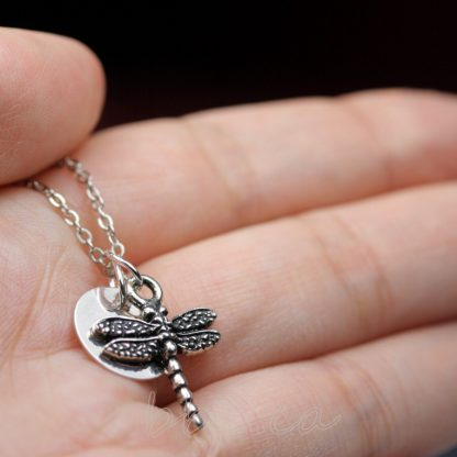 Dragonfly keepsake Necklace Sterling Silver