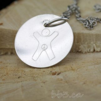 International Child Symbol Necklace Sterling Silver