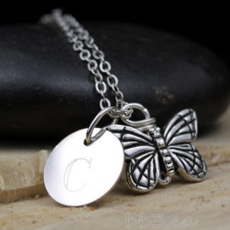 Keepsake Butterfly Necklace Sterling Silver