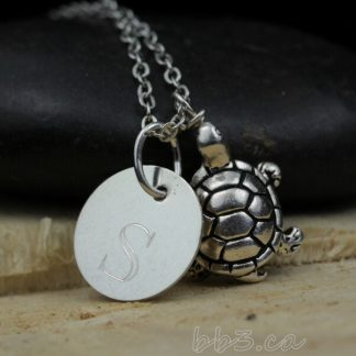 Turtle Keepsake Necklace Sterling Silver