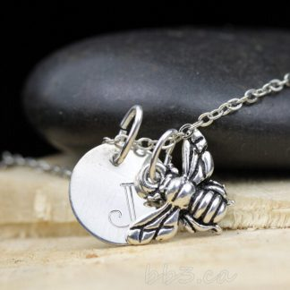 Bee Keepsake Necklace Sterling Silver