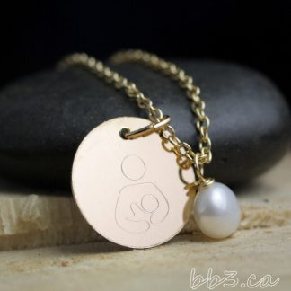 Breastfeeding Symbol Necklace in 14kt Gold-filled