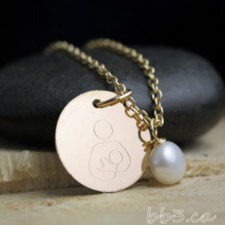 Breastfeeding Symbol Necklace in 14kt Gold-filled