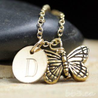 Butterfly Keepsake Necklace 14kt Gold-Filled