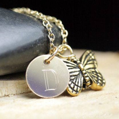 Butterfly Keepsake Necklace 14kt Gold-Filled