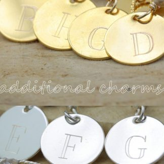 Additional One-Letter Sterling Silver Charms