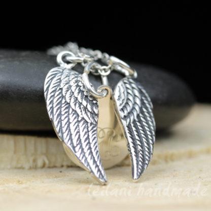 angel wings monogram necklace