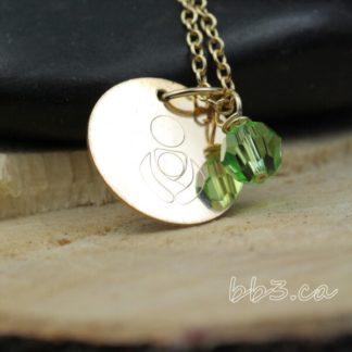 14kt gold-filled International Babywearing Symbol Necklace