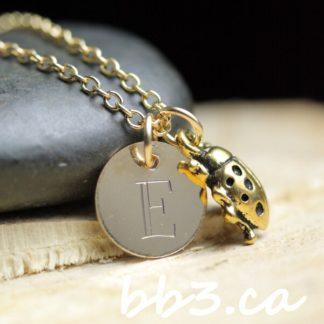 Gold-Filled Ladybug Keepsake Necklace