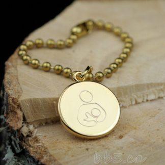 Bulk Discounts Gold Breastfeeding Awareness Keychain Bag charm