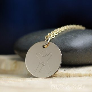 Gold-Filled International Child Necklace Advocacy Awareness