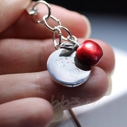 Red Apple Bookmark Teacher's Gift
